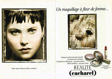PUBLICITE ADVERTISING 045  1991   CACHAREL  2   maquillage par SARAH MOON (2p)