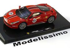 1:43 Hot Wheels Elite Ferrari 458 Challenge 2010 red