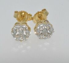 18ct gold 0.25ct diamond cluster earrings