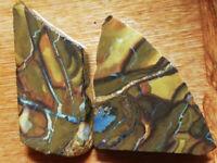 133.1CT LOT +VIDEO PRETTY Australian Queensland Boulder Opal RUB UNPOLISHED