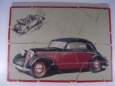 ANTIQUARIATO RARO AUTO UNION DKW Auto PUZZLE PUBBLICITARIO prima del 1945