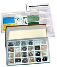 Rocks Minerals Samples Specimens Geology Collection (24) & Hardness (Moh's) Kit