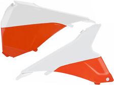 Polisport plastic Airbox cover for KTM EXC/EXC-F 2015 - White/Orange