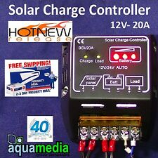 Charge Controller for Battery, Solar Panel, Security Light etc. 12v-20A  NEW!