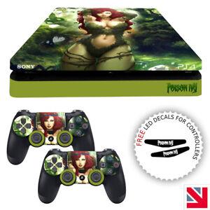 Poison Ivy Superhero PS4 SLIM Skin Decal Vinyl Sticker Wrap