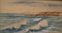 ANTIQUE AMERICAN IMPRESSIONIST OLD PACIFIC COAST CA WESTERN ART PAINTING PASITAS