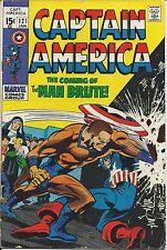Captain America 121 1st 1968 Marvel Series F+ Rare Silver Age Movie Stan Lee