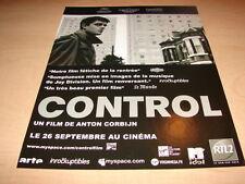 JOY DIVISION - CONTROL!!!!!!!!!!!!!! PUBLICITE / ADVERT