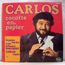 """33 tours CARLOS Disque Vinyle LP 12"""" COCOTTE EN PAPIER - MFP 026-13.316 F Rèduit"""