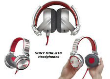 Refurbished Sony MDR-X10 Headband Headphones - Red/Silver