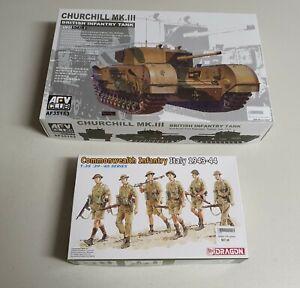 AFV Club No. AF35153 | 1:35 Churchill Mk.III British Infantry Tank w/ Infantry