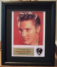 Elvis Preprinted Autograph & Guitar Pick Display Mounted & Framed