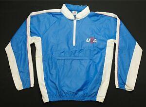 Rare Vintage MEGA SPORT Team USA 1984 Hidden Hood Track Jacket 80s LA Olympics L