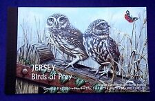 SELLOS FAUNA AVES JERSEY 2001 986C CARNET RAPACES DIURNAS