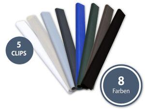 5x BefestigungsClip PVC RAL 6005 7016 7040  Klemmschienen Sichtschutzsystem