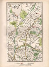 1936 LARGE SCALE MAP -  LONDON CHURCH END MILL HILL EAST WEST FINCHLEY HAMPSTEAD
