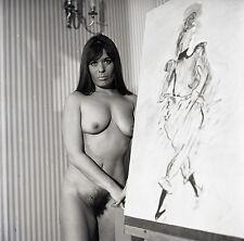 NU NUDE PHOTO FOTO 20x20CM REPRINT FROM ORIGINAL 1960's vintage neg 19
