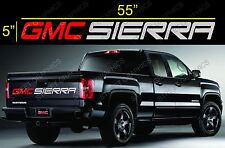 GMC SIERRA TAILGATE  VINYL DECAL STICKER RED & SILVER COLORS