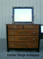 60910 HITCHCOCK Maple Dresser Chest with Mirror