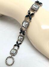 """John Hardy .925 Sterling Silver BLACK ONYX Kawung Flower Bracelet 7.75"""""""