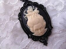 #JRJ922  HALLOWEEN Necklace Cameo Nautical Lady Sea Pirate Skull Goth Mermaid