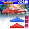 3x4.5m Garden Gazebo Top Cover Roof Replacement Tent Canopy 1-Tier Sunshade