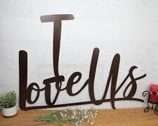 I Love Us sign, Anniversary Sign, Large Metal Wall Hanging