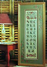 GARDEN SAMPLER~Cross Stitch Pattern~Marie Barber~Floral Alphabet
