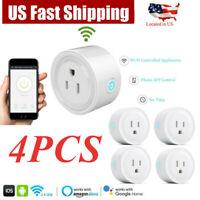 4PCS HQ Smart Wifi US Plug Remote Control Socket Outlet Switch Alexa Echo Google
