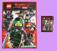 LEGO NINJAGO MOVIE Stickeralbum (leer) + 1 Tüte mit 5 Sticker, NEU