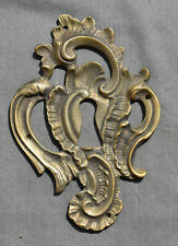 ENTREE DE SERRURE ornement en bronze d' ameublement OLD LOCK ENTRY  /42