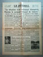Fac similé Journal - LE JOURNAL 19 MAI 1940