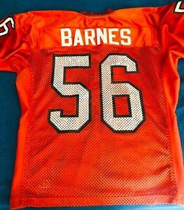 Marlin Barnes Miami Hurricanes 1995 game used worn orange Nike football jersey