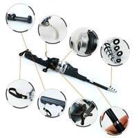 Telescopic Mini Fishing Rod Fiberglass Folding Rod Fishing Spinning Rod g