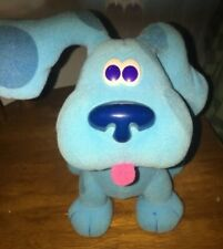 Vintage Blues Clues Bounce With Me Blue Dog 2000 Plush Fisher Price Mattel