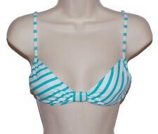 Roxy bikini top swimsuit size S blue white striped bandeau nwt new