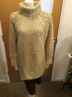 Missguided Browny Cream Thick Long Sleeve Jumper - UK Ladies Size 16