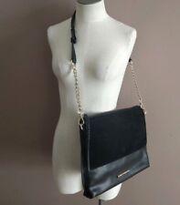 Elaine Turner NWT Jax Hand Bag in Coal Snake Print Shoulder Purse Fold Over $328
