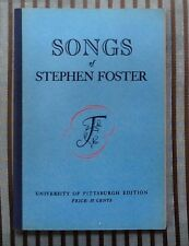 Songs of Stephen Foster Songbook University of Pittsburgh Edition Americana