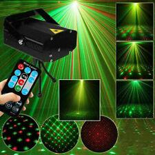 More details for led rgb stage light lighting laser strobe beam black disco party djktv projector
