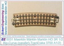 EE 5031 VG Very Good Marklin HO 3 Rail (3R) Half Big Curve Track aka 3700A1/2