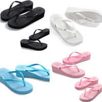 New Wedge Thick Slippers Flip Flops Platform Thong Sandals Beach Summer Shoes