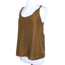 04684624bc9db J. CREW Earth Tone Green Classic Breezy Summer Silk Tank Top size 4