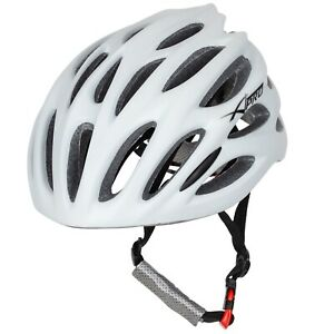 Casque Cyclisme Réglable Course Montagne Vélo Résistant MTB Route Blanche