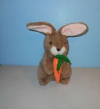 "Vintage 16"" Gerber Precious Plush Bunny Rabbit w/ Carrot Stuffed Plush Animal"