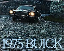 Buick Skyhawk Skylark Century LeSabre Electra Riviera 1975 USA Market Brochure