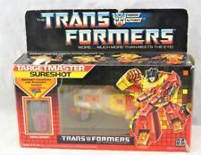 Transformers Original G1 1987 Targetmaster Sureshot Complete w/ Box Bubble