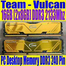 16GB DDR3 2133Mhz Team Vulcan 2 x 8GB PC Memory Ram Red Dimm
