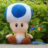 "Nintendo Super Mario Run Blue Toad 6.5"" Plush Toy Stuffed Animal Doll Bros Game"