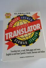 Globalink Power Translator 4 in 1 Language NEW Spanish French German Italian 6.0